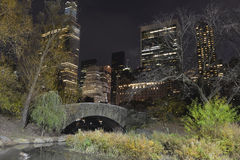 Manhattan at night, New York City Royalty Free Stock Photography