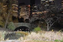 Manhattan at night, New York City Stock Photo