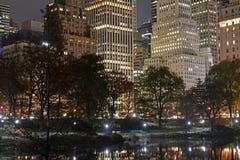 Manhattan at night, New York City Stock Image
