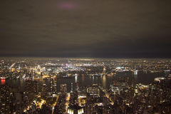 Manhattan night - New york - Vue de l& x27;empire state building Royalty Free Stock Photography