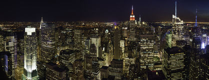 Manhattan at night Royalty Free Stock Photos