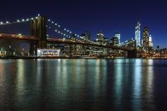 Manhattan by night Royalty Free Stock Photo