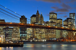 Manhattan at night. Stock Photography