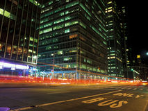 Manhattan at night. Stock Images