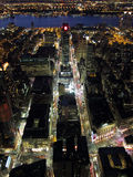 Manhattan night view Stock Photos