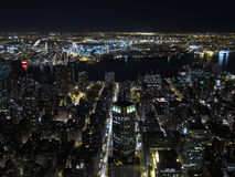 Manhattan night view Royalty Free Stock Images