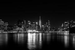 Manhattan at Night royalty free stock images
