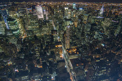 Manhattan at night. View on Manhattan at night from the Empire State Building Stock Photo