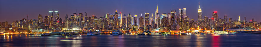 Manhattan at night Royalty Free Stock Photography