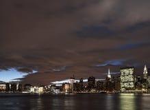Manhattan at night. A night view of the Manhattan skyline Stock Photo