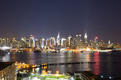 Manhattan niska Linia horyzontu Fotografia Stock