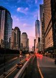 Manhattan, nivelando a precipitação fotografia de stock
