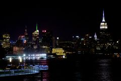Manhattan nocne niebo Obraz Royalty Free