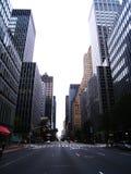 Manhattan normalmente occupato ha abbandonato durante l'uragano immagine stock