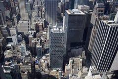 Manhattan - Nowy York - Vue depuis le wierzchołek skała Obrazy Royalty Free