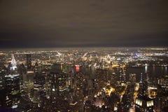 Manhattan - Nueva York - imagen de la noche Foto de archivo