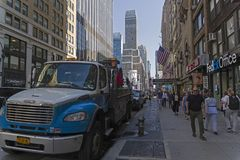 Manhattan, Nueva York Séptima avenida Foto de archivo libre de regalías