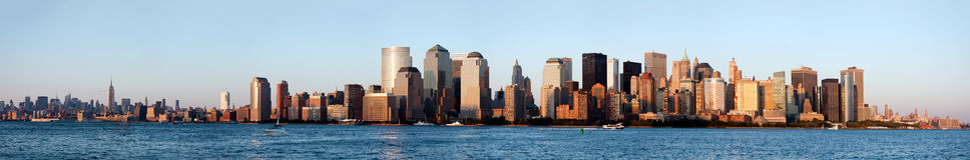 manhattan ny horisont york Arkivbild