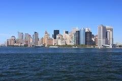 manhattan ny horisont york Arkivbilder