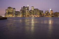 manhattan ny horisont york Royaltyfri Fotografi