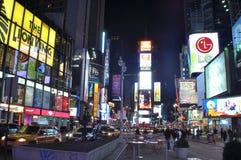 manhattan nya fyrkantiga tider york Royaltyfri Bild