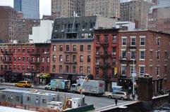 Manhattan nya Jork byggnader Arkivbild