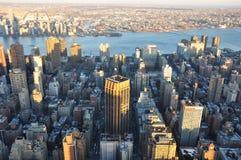 Manhattan nya Jork byggnader Royaltyfri Foto