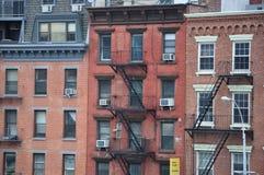 Manhattan nya Jork byggnader Fotografering för Bildbyråer