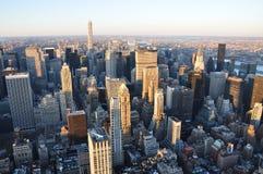 Manhattan nya Jork byggnader Arkivfoton