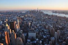 Manhattan nya Jork byggnader Royaltyfri Bild