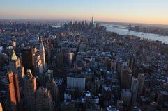 Manhattan nya Jork byggnader Royaltyfria Foton