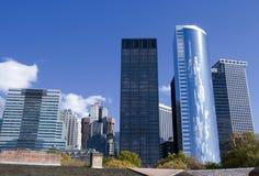 manhattan nya skyskrapor york Royaltyfri Foto
