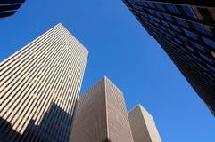 manhattan nya skyskrapor york Royaltyfri Bild