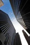 manhattan nya skyskrapor york Arkivfoton
