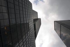 manhattan nya skyskrapor york Arkivbilder