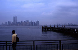 Manhattan nyc. View of lowereast side of manhatta Royalty Free Stock Photo