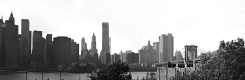 manhattan nyc panoramy linia horyzontu Obrazy Royalty Free