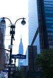 Manhattan 8o avoirdupois New York City E.U. Fotos de Stock Royalty Free