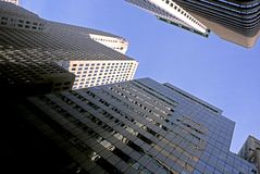 Manhattan Office Buildings Royalty Free Stock Images