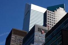 Manhattan Office Facades Stock Photography