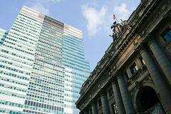 Manhattan Offices. Picture of office buildings in Manhattan Stock Photos