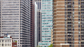 Manhattan offices and apartments, urban background, NYC. Stock Photo
