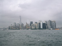 Manhattan op een bewolkte dag Royalty-vrije Stock Foto's