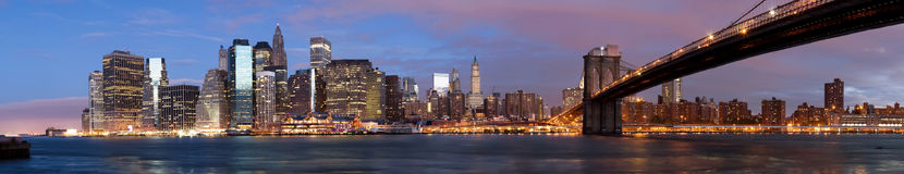 Manhattan over the river early morning Royalty Free Stock Images