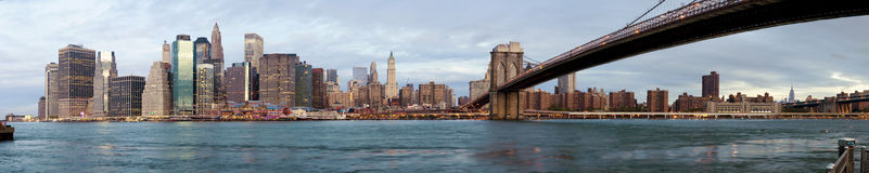 Manhattan over the river - early morning Royalty Free Stock Photos