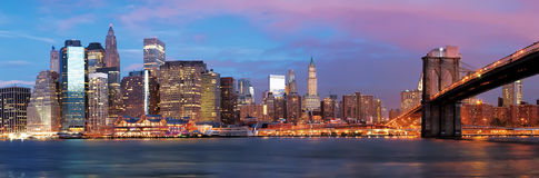 Manhattan over the river early morning Stock Image