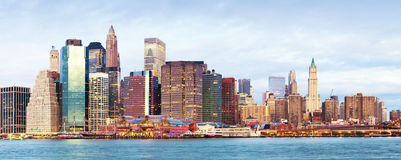 Manhattan over the river - early morninig Royalty Free Stock Photo