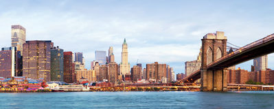 Manhattan over the river - early morninig Royalty Free Stock Photography