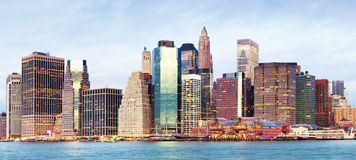 Manhattan over the river - early morninig Stock Image