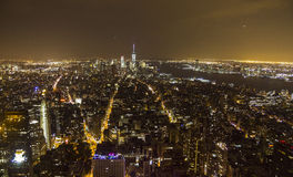 Manhattan overview at night from Empire State Building Stock Photo